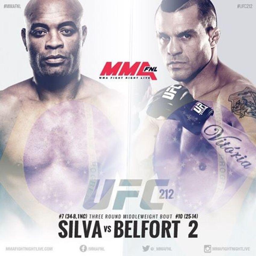 (Слух) Андерсон Сильва против Витора Белфорта 2 на UFC 212