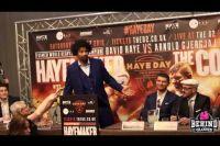 Шеннон Бриггс ворвался на пресс-конференцию Дэвида Хэя и его нового малоизвестного соперника.