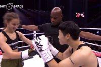 Видео боя Юи Ху - Ребекка Ирвин Glory 74