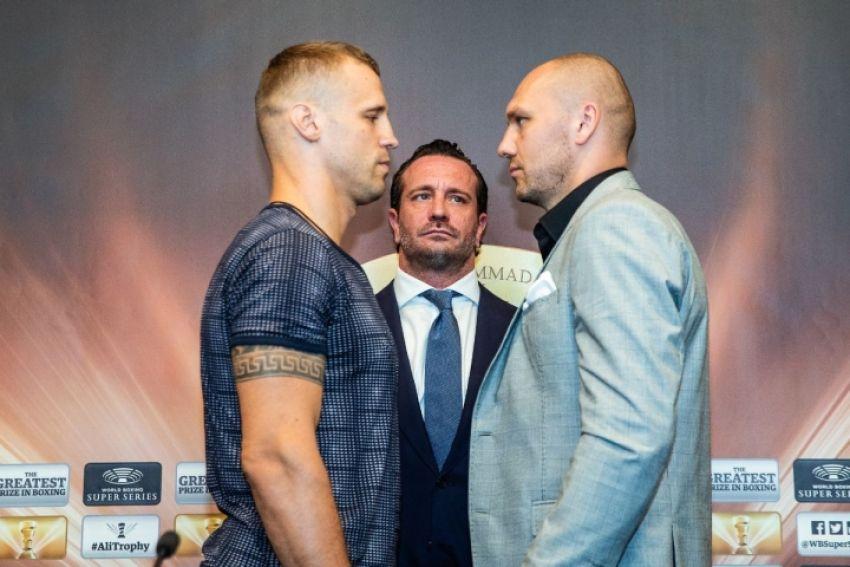 Фото: Майрис Бриедис и Кшиштоф Гловацки лицом к лицу на финальной пресс-конференции