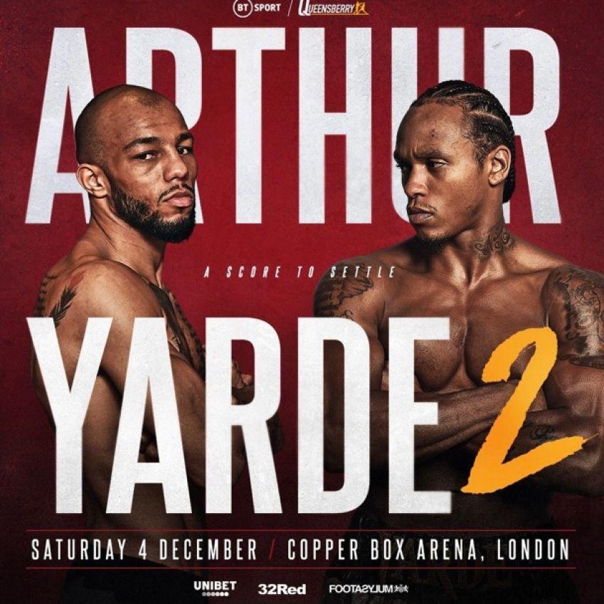 Официально: Энтони Ярд и Линдон Артур проведут реванш 4 декабря