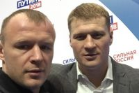 "Александр Поветкин: ""Шлеменко - хороший спортсмен. Я считаю, что он красавец, молодец"""