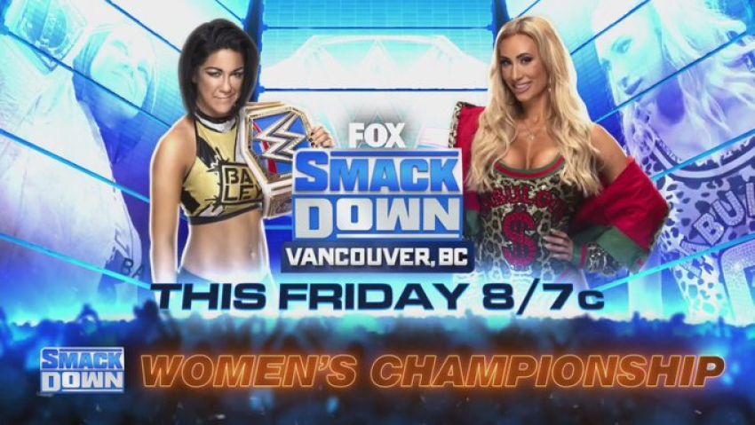 Прямая трансляция WWE Friday Night SmackDown Vancouver: Бэйли – Кармелла