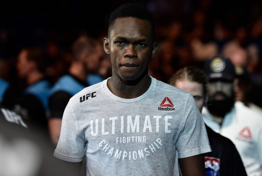 Video: Israel Adesanya's reaction to Weidman's leg fracture in Hall's fight