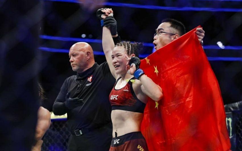 Вейли Жанг меньше чем за минуту забила Джессику Андраде, став новой чемпионкой минимального веса на UFC Fight Night 157