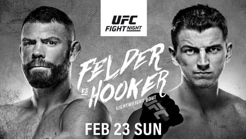 Файткард турнира UFC Fight Night 168: Пол Фелдер - Дэн Хукер