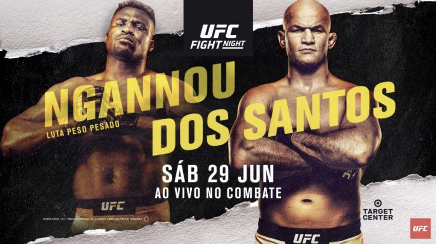 Файткард турнира UFC Fight Night 155: Фрэнсис Нганну - Джуниор Дос Сантос