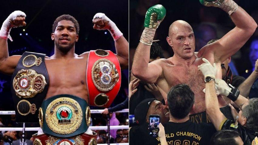 Mike Tyson said a few words to Joshua and Fury