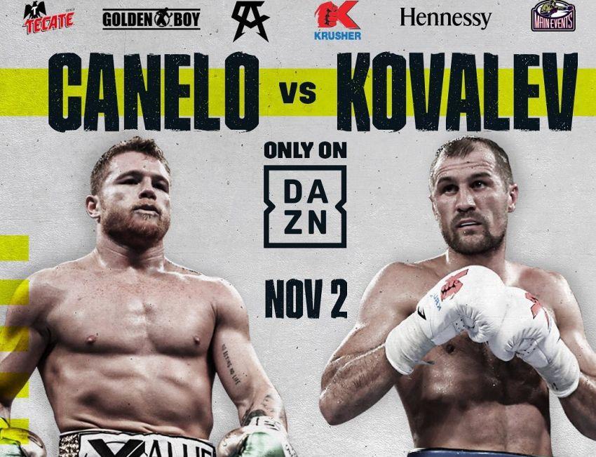 Официально: Сауль Альварес - Сергей Ковалев проведут бой 2 ноября в Лас-Вегасе