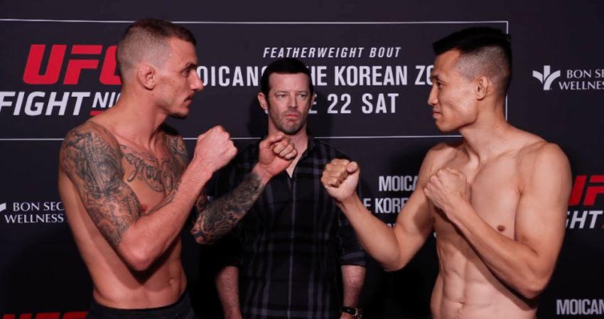 "Видео боя Ренато Мойкано - ""Корейский Зомби"" UFC Fight Night 154"