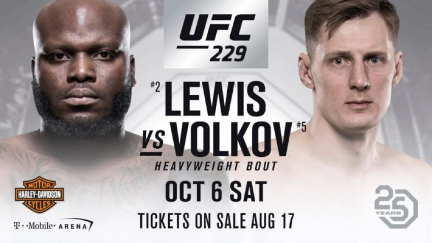 Видео боя Александр Волков - Деррик Льюис UFC 229