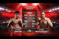 Видео боя Курбан Омаров - Фабио Мальдонадо Fight Nights Global 73