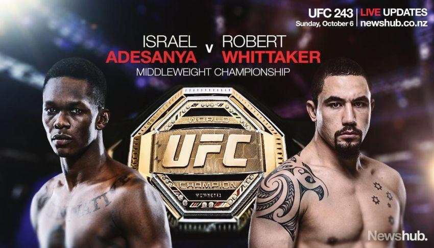 Где смотреть UFC 243: Роберт Уиттакер - Исраэль Адесанья