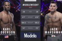 Видео боя Джек Маршмен - Карл Роберсон UFC 230