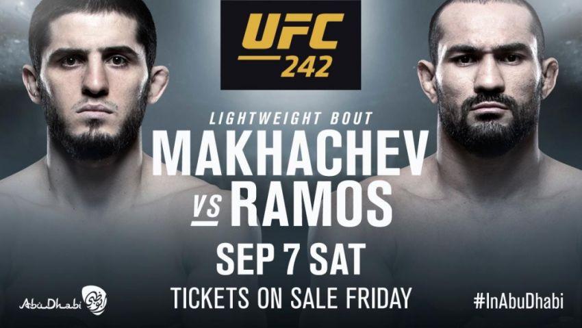 Поединок Ислама Махачева и Дэйви Рамоса официально утвержден на UFC 242