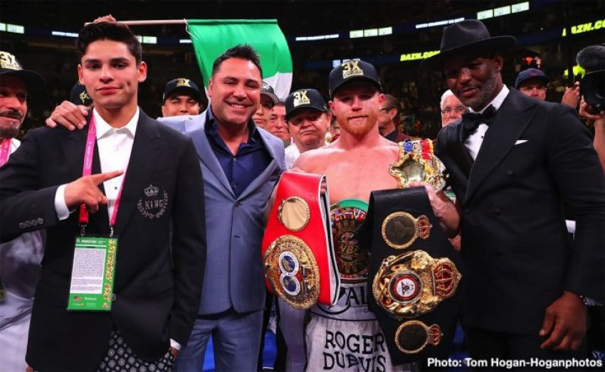 Сауль Альварес встретится с руководством Golden Boy на этой неделе, чтобы выбрать соперника на сентябрь