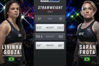 Видео боя Ливинья Соуза - Сара Фрота UFC Fight Night 144