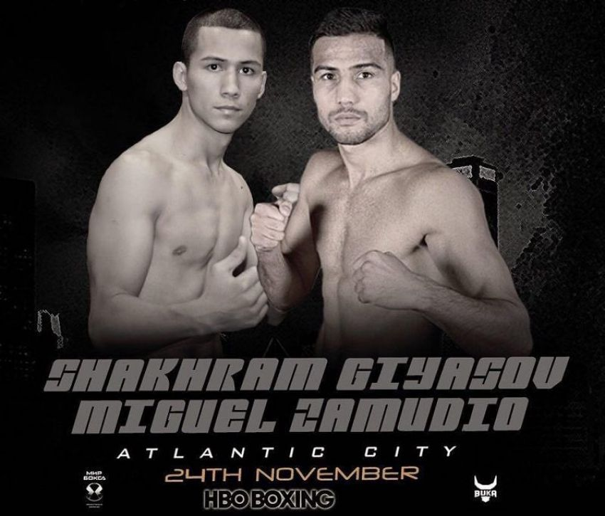 Шахрам Гиясов против Мигеля Замудио 24 ноября