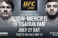 Арман Царукян подерется с Оливье Обином-Мерсье на UFC 240 в Канаде