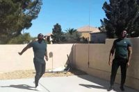 Карлос Такам с братом Фрэнсисом Нганну в Лас-Вегасе