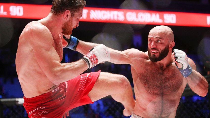 Исмаилов и Минеев устроили потасовку на турнире AMC Fight Nights Global, спровоцировав массовую драку: видео