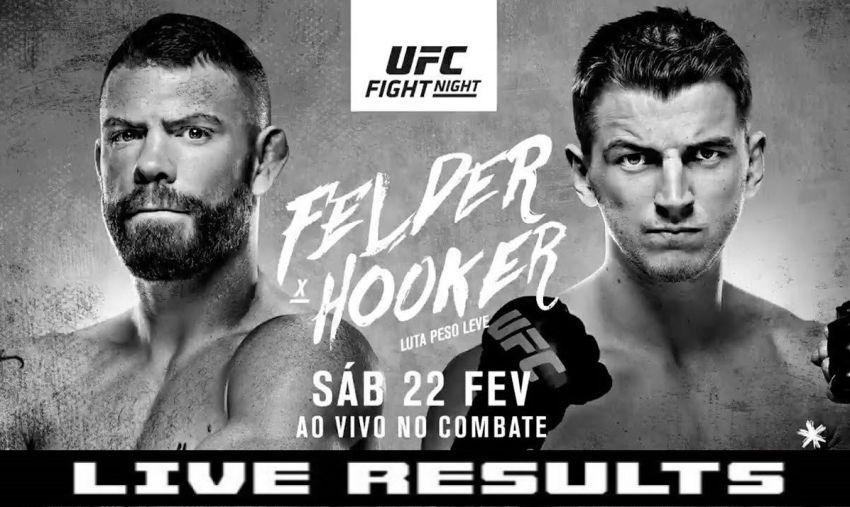 Результаты турнира UFC Fight Night 168: Пол Фелдер - Дэн Хукер