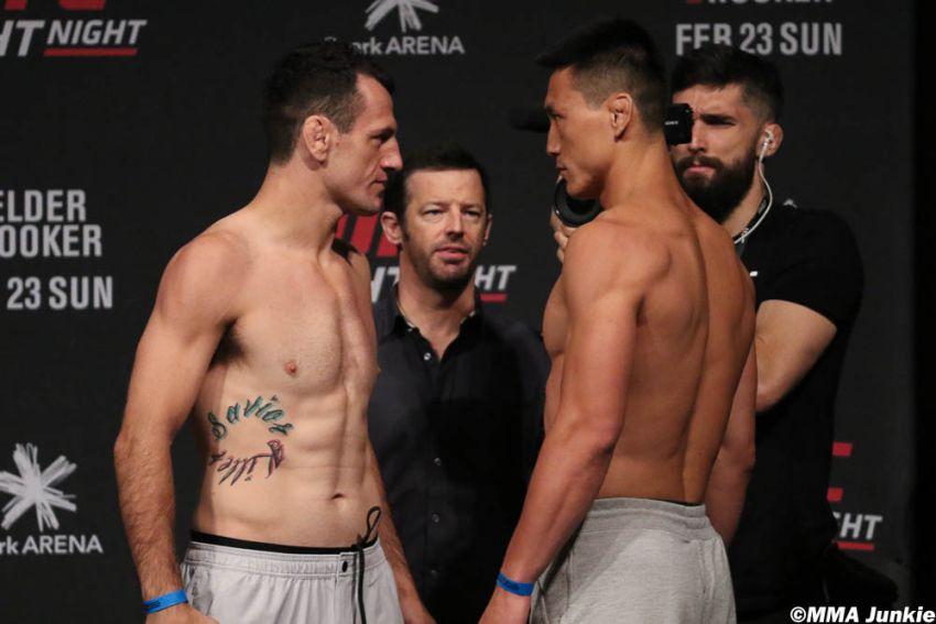 Видео боя Сонг Кенан - Каллан Поттер UFC Fight Night 168