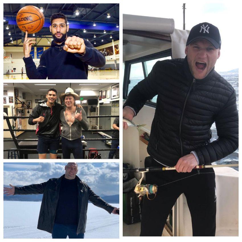 InstaBoxing 2 апреля 2019: Амир Хан встретился с баскетбольной командой, Николай Валуев побывал на озере Байкал