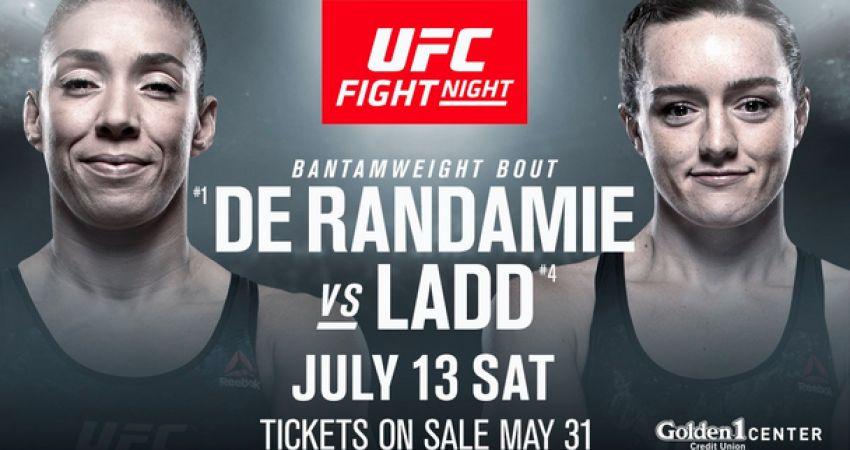 Ставки на UFC on ESPN+ 13: Коэффициенты букмекеров на турнир Жермейн Де Рандами - Аспен Лэдд, Юрайа Фэйбер - Рики Симон