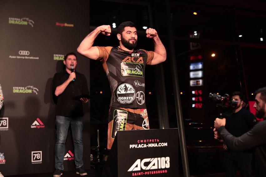 Довлетджан Ягшимурадов защитил титул чемпиона ACA в полутяжелом весе, единогласно победив Алексея Буторина на ACA 103