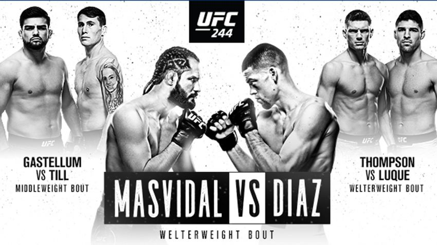 Где смотреть UFC 244: Хорхе Масвидаль - Нейт Диас