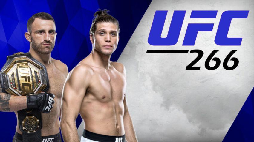 UFC 266. Смотреть онлайн прямой эфир