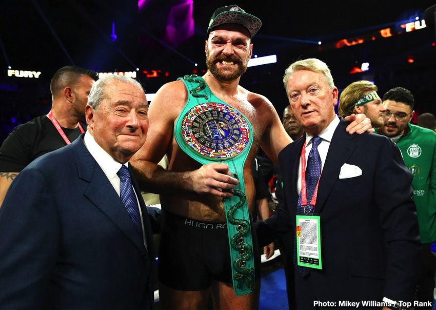 """Frank Warren: """"We have a contract to fight with Joshua, but Fury will not sign it."""""""