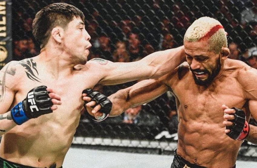 """Брэндон Морено """"задушил"""" Дейвисона Фигейреду на UFC 263, став новым чемпионом наилегчайшего веса"""