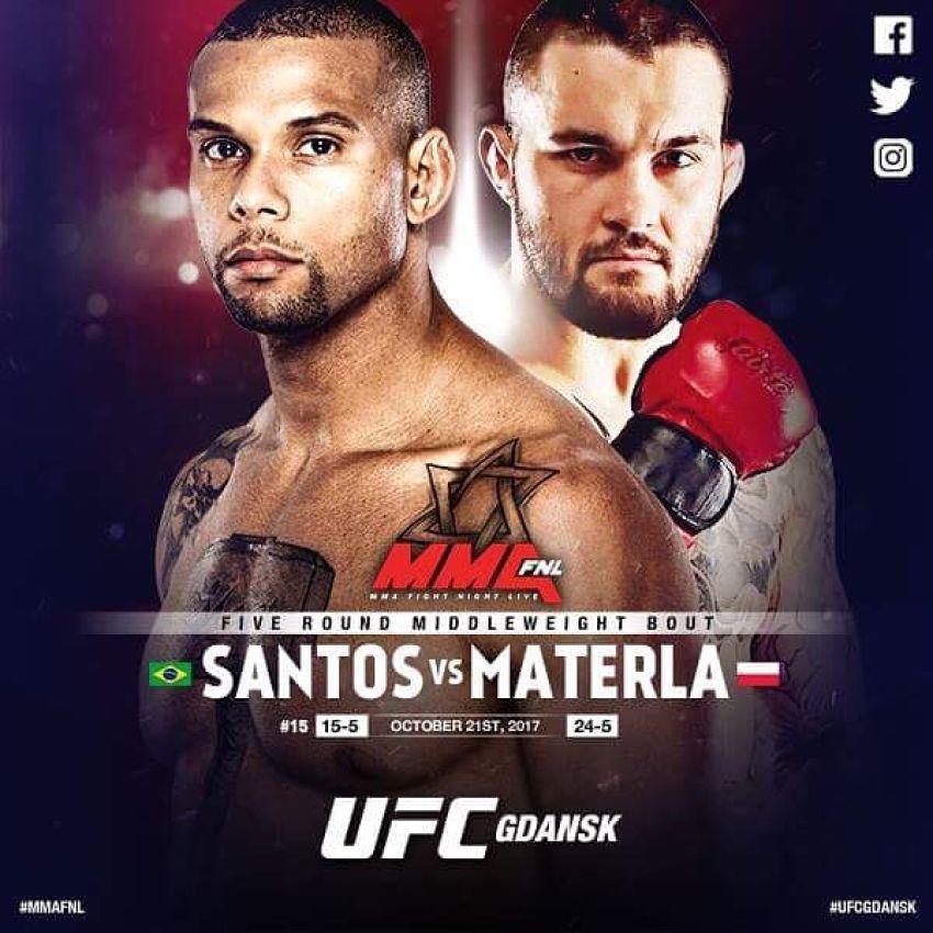 Экс-чемпион KSW подерется с Тиаго Сантосом в главном событии UFC Fight Night 118