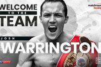 Джош Уоррингтон подписал контракт с Matchroom Boxing