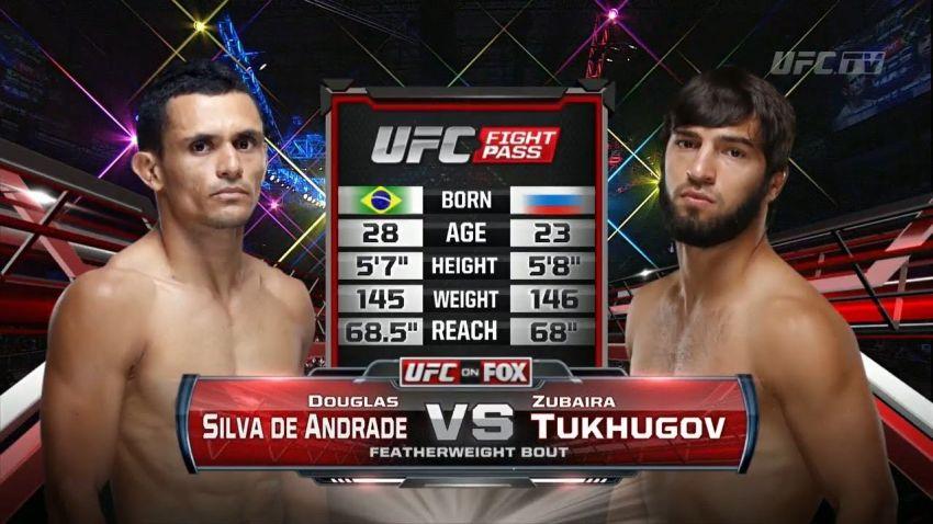 Видео боя Зубайра Тухугов - Дуглас Сильва де Андраде UFC Fight Night 36