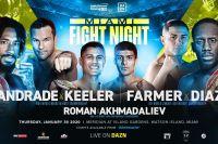 Эдди Хирн анонсировал вечер бокса с тремя чемпионскими боями: Андрейд - Килер, Фармер - Диас, Роман - Ахмадалиев