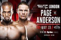 Дерек Андерсон: Бой с  Майклом Пэйджем будет в стойке, нокаутирую или выиграю решением