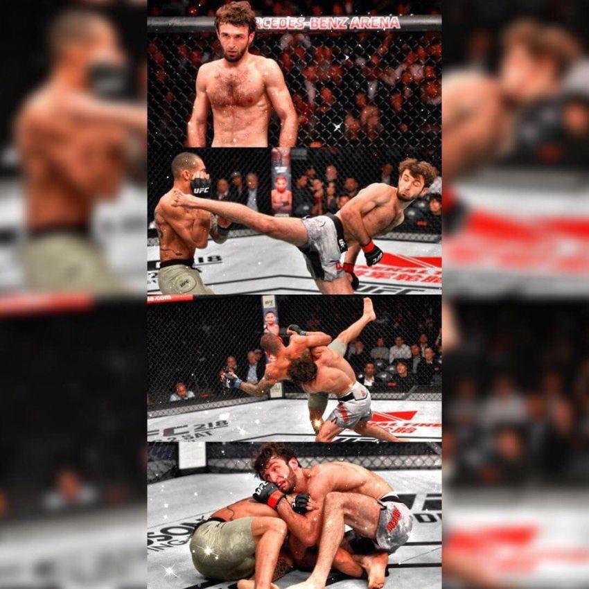 Интересный факт: Забит Магомедшарипов стал 12-м бойцом в истории UFC, одержавшим победу удушением анаконды