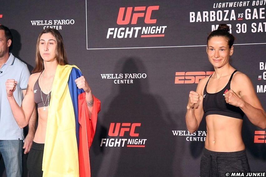 Видео боя Марина Мороз - Сабина Мазо UFC on ESPN 2