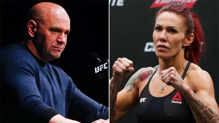 Cris Cyborg has stated that Dana White has canceled her grappling match with Miesha Tate.