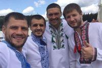 Александр Усик пошутил над Денисом Беринчиком во время своего дебютного боксерского шоу