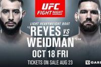 Где смотреть UFC on ESPN 6: Крис Вайдман - Доминик Рейес