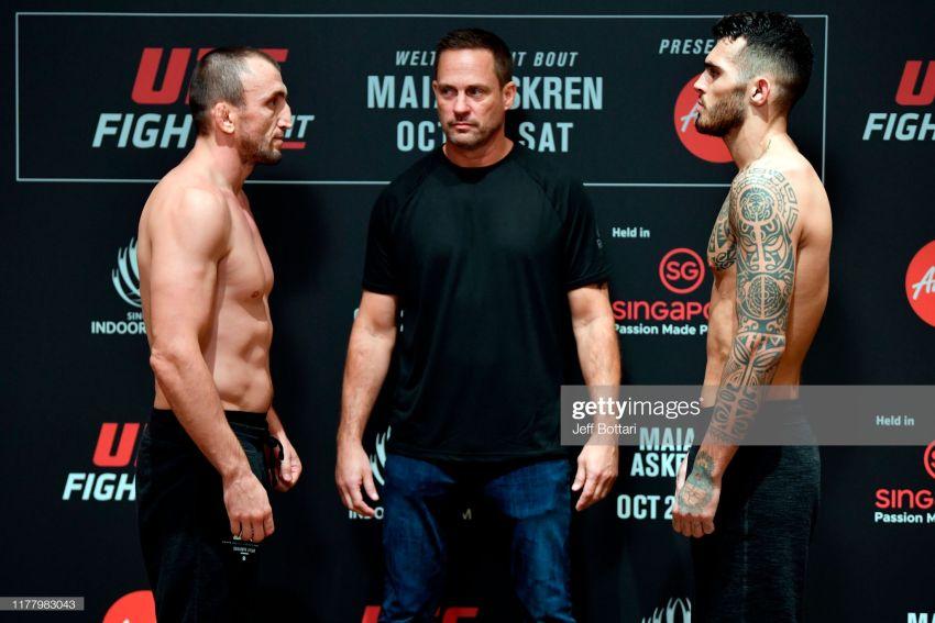 Видео боя Муслим Салихов - Лауреано Старополи UFC Fight Night 162