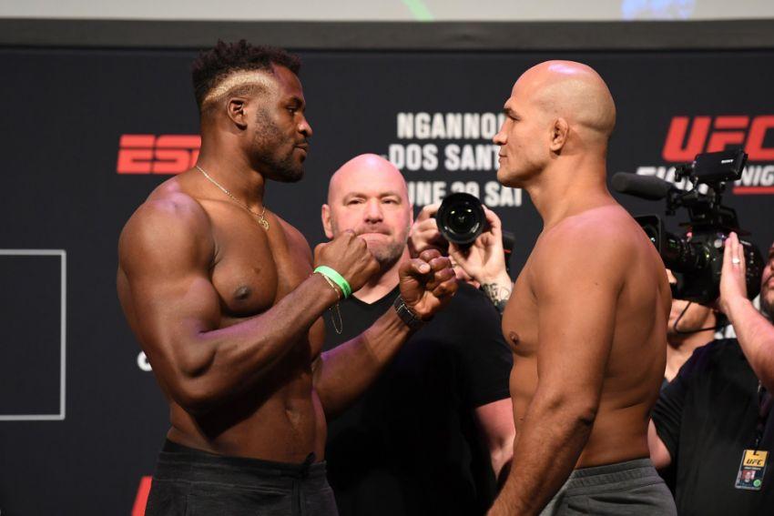 Видео боя Фрэнсис Нганну - Джуниор Дос Сантос UFC on ESPN 3