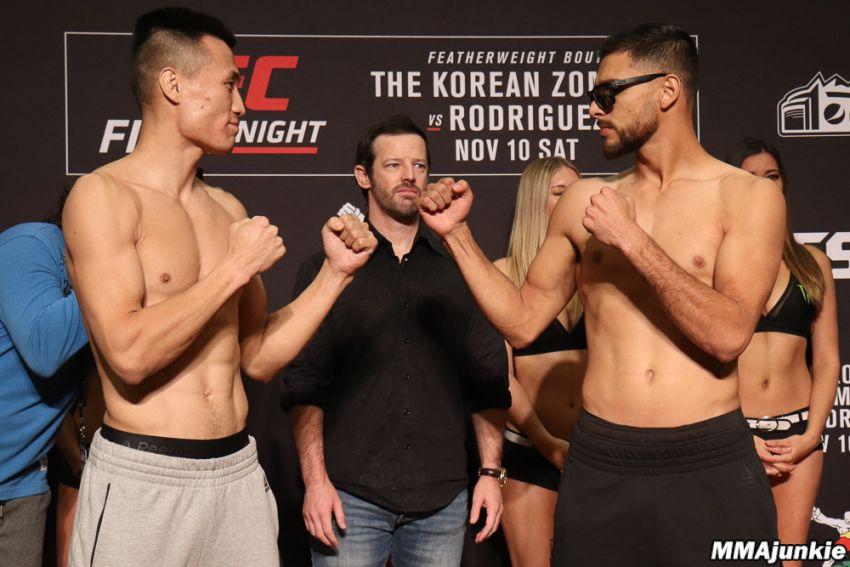 Видео боя Яир Родригес - Чен Сон Джон UFC Fight Night 139