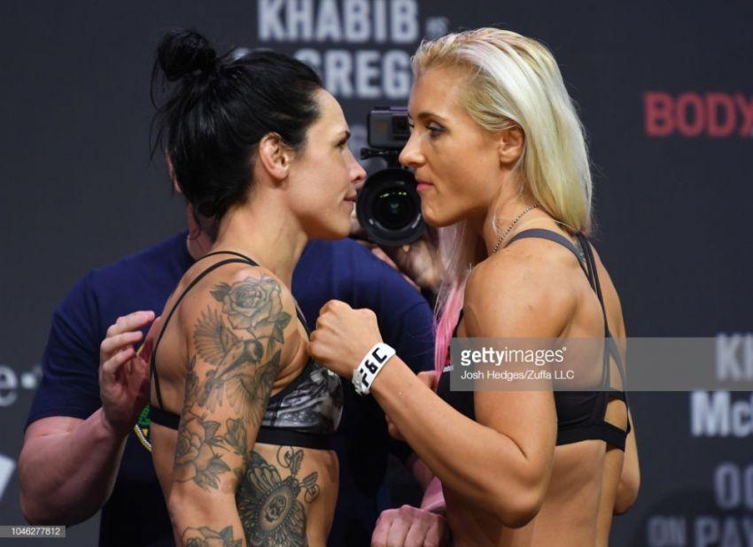 Видео боя Яна Куницкая - Лина Лансберг UFC 229