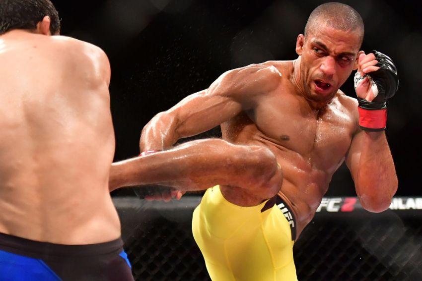 Edson Barboza prepares to leave the UFC