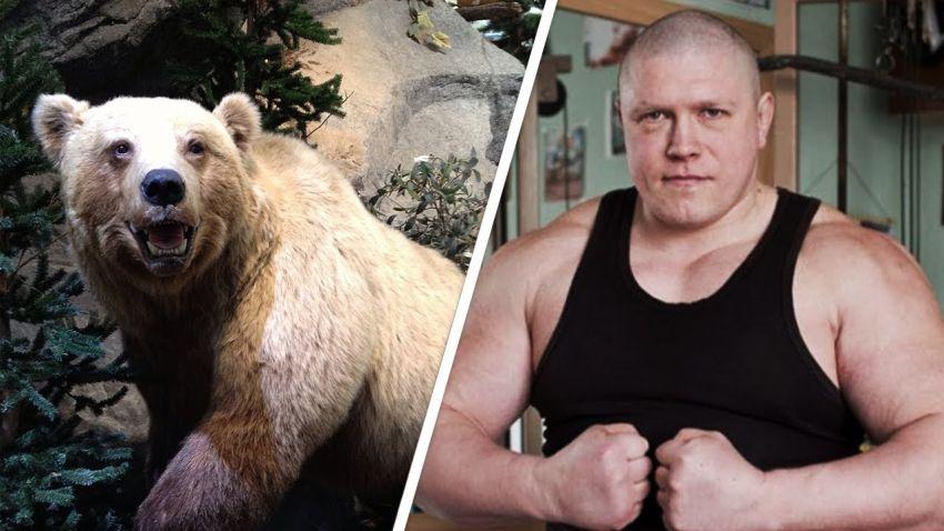Максим Новоселов устроил борцовскую схватку с медведем